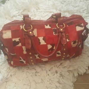 Red Mohair Fashion Purse